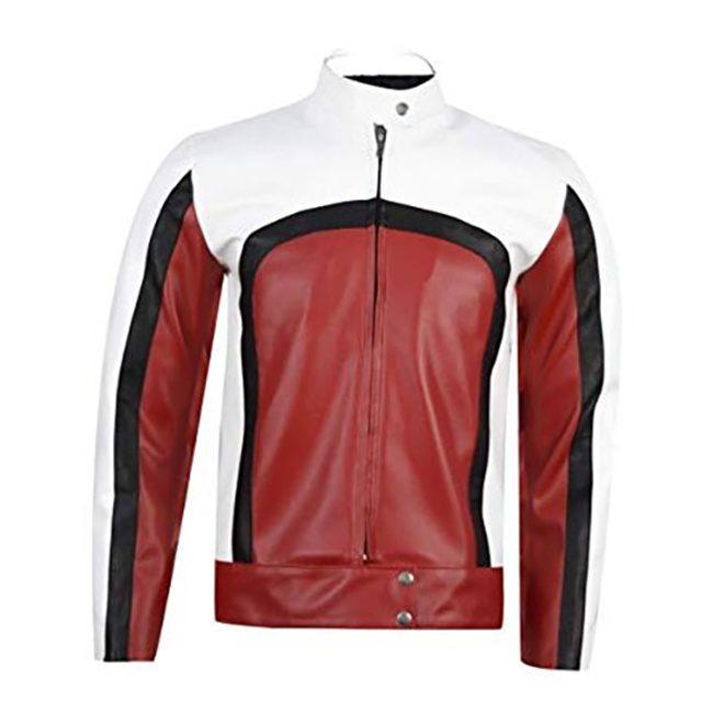 Bohemian Rhapsody Cafe Racer Leather Jacket Front