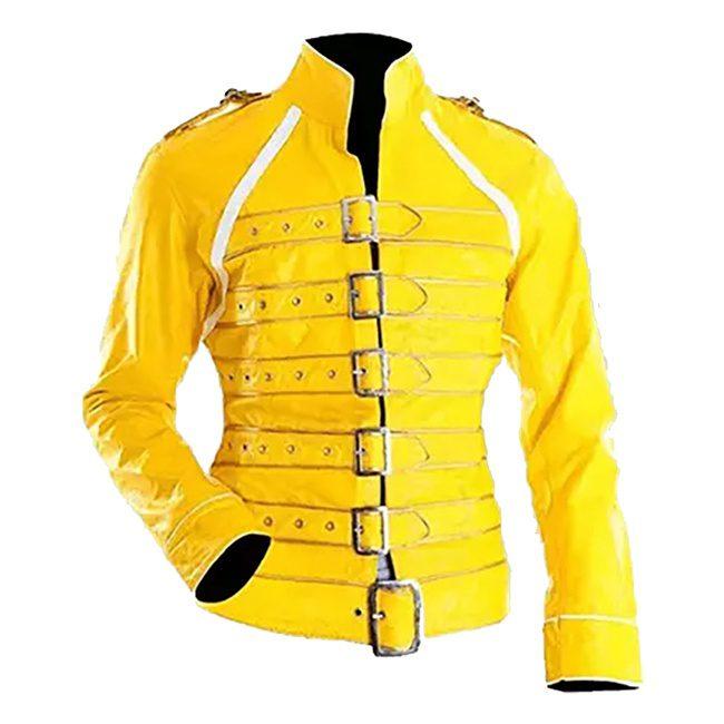 Freddy Mercury Yellow Leather Jacket 2
