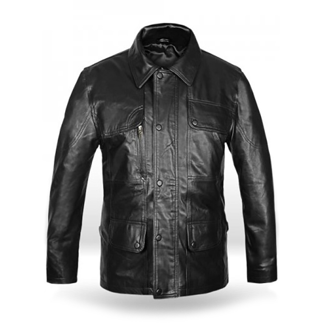Terminator Genesis Leather Jacket Front